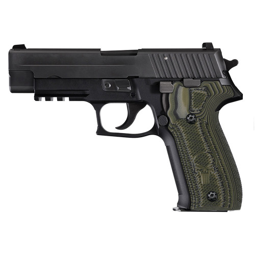 Sig Sauer P226 G10 Gun Grips Tactical Slant with Punisher 226-CP-21