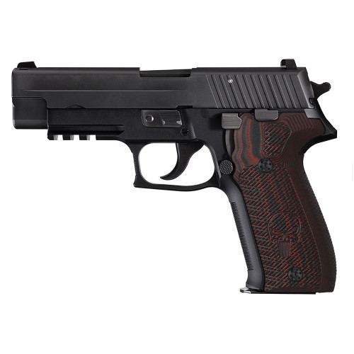 Sig Sauer P226 G10 Gun Grips Tactical Slant with Punisher 226-CP-6