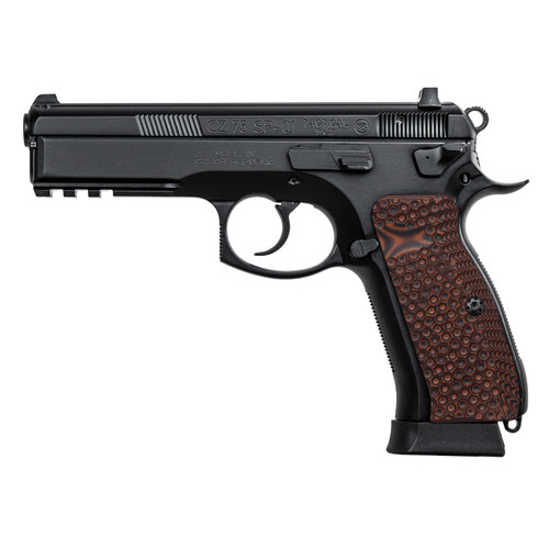CZ 75 Full Size G10 Gun Grips Palm Swell Back Style, Mag. Release Cut, Screws Included, H6-TJ7-28