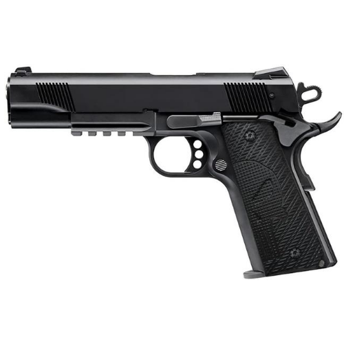 1911 Slim Full Size Black G10 grips, 3/16 thin,  Ambi Safety Cut, Punisher Skull Texture, Screws Included , H1S-SK2-1