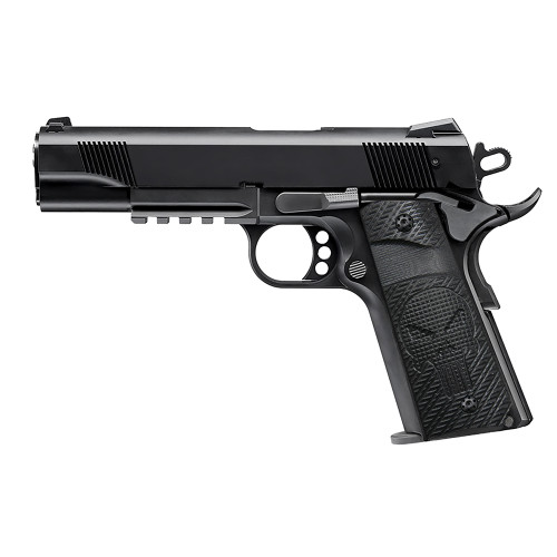 1911 Slim Full Size G10 Grips, 3/16 thin,  Ambi Safety Cut, Skull Texture, Screws Included ,  H1S-SK1B-1