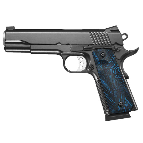 1911 G10 Grips, Full Size, High Polished Surface, Screws Included, Ambi Safety Cut, H1-S-BLD
