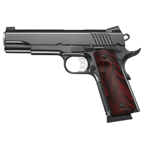 1911 G10 Grips, Full Size, High Polished Surface, Screws Included, Ambi Safety Cut, H1-S-RD