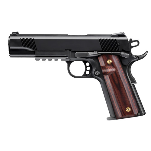 1911 Full Size High Polished wood Gun Grips, Screws Included, H1-S-BWS