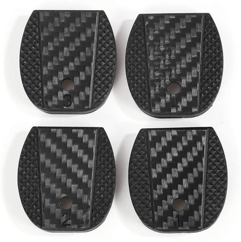 4 PCS Carbon Fiber Magazine Floor Plates for Glock, Fits Most Glock Models Gen 1-5, Pistol 9x19mm .40 S&M .357 SIG .45 Gap, G1-CFB3-4C