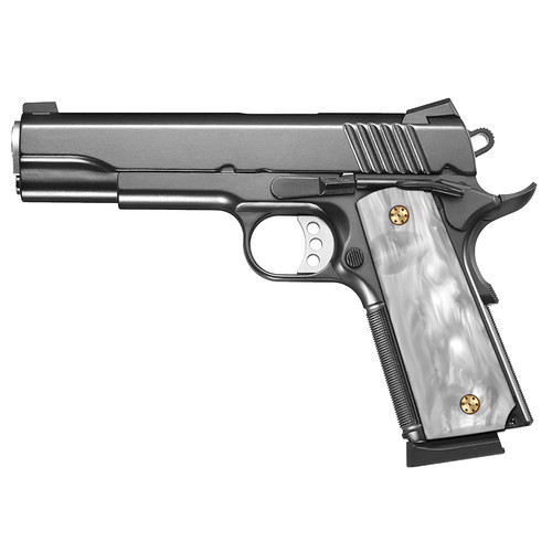 1911 Full Size Patriotic Grips (Government/Commander), High Polished Acrylic, Ambi Safety Cut, H1-S-WP
