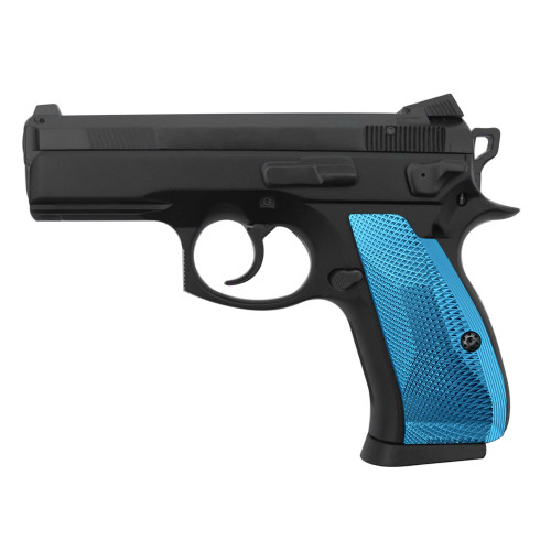 Cool Hand Aluminum Grips for CZ 75/85 Compact, P-01, P100, C100, T100, PCR, CZ 75 D, Palm Swell Back Style, Screws Included, SPC-DCP-ABL
