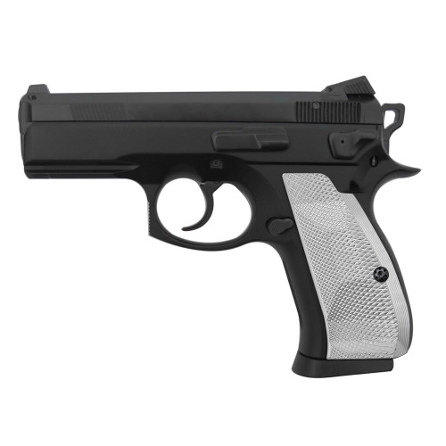 Cool Hand Aluminum Grips for CZ 75/85 Compact, P-01, P100, C100, T100, PCR, CZ 75 D, Palm Swell Back Style, Screws Included, SPC-DCP-AS