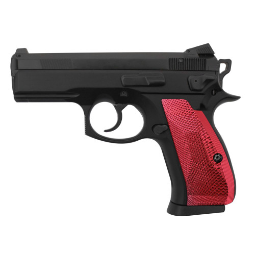 Cool Hand Aluminum Grips for CZ 75/85 Compact, P-01, P100, C100, T100, PCR, CZ 75 D, Palm Swell Back Style, Screws Included, SPC-DCP-AR