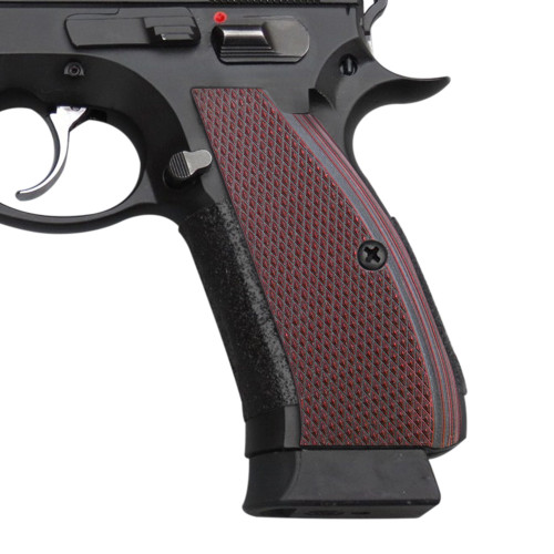 Cool Hand G10 Grips for CZ 75 Full Size, SP-01 Series, Shadow 2, 75B BD, Cherry