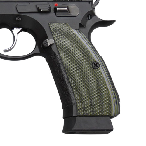 Cool Hand G10 Grips for CZ 75 Full Size, SP-01 Series, Shadow 2, 75B BD, OD/Black