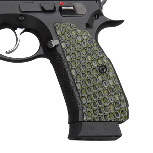 Cool Hand G10 Grips for CZ 75 Full Size, SP-01 Series, Shadow 2, 75B BD, Ball Texture, OD/Black