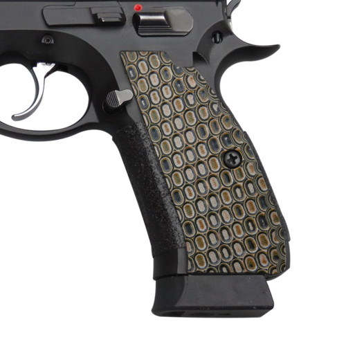 Cool Hand G10 Grips for CZ 75 Full Size, SP-01 Series, Shadow 2, 75B BD, Ball Texture, Coyote