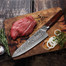 """8"""" Chef Hammered VG10 Damascus Steel Kitchen Knife w/ Cocobolo Wood Handle 7198D-CB"""