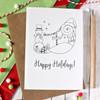 Snowman Card. Christmas Card. North Pole Card. Merry Christmas. Happy Holidays. Holiday Card. Holiday Cards. Christmas Cards. Santa Hat.