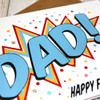 Comic Book Style Card for Dad