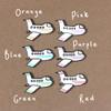 Bon Voyage Card Aeroplane Colour Choices