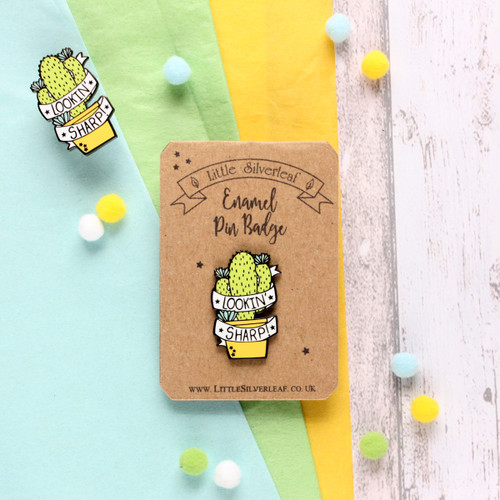 Cactus Pin Badge. Succulent Pin Badge. Cactus Pin. Cactus Badge. Enamel Pin. Pin Badge. Fun Pin Badge. Cactus. Enamel Pin Badge. Enamel Pin Gift. Pin Game.
