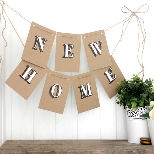New Home Garland. Bunting. New Home Bunting. New Home Banner. Housewarming Decorations. Indoor Bunting. New Home. Housewarming Party. Home.