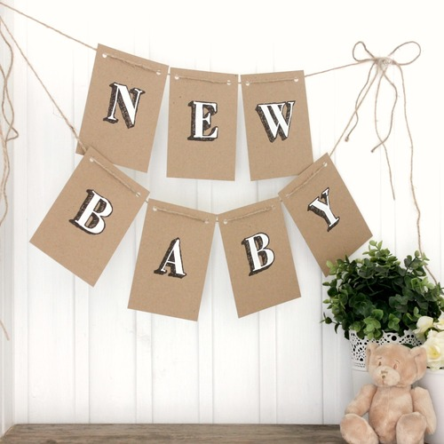 Baby Shower Decorations. Handmade Bunting. Baby Shower Bunting. Baby Shower Banner. New Baby Bunting. Baby Boy Bunting. Baby Girl Bunting.