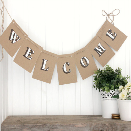 Welcome Bunting. Bunting. Welcome Banner. Welcome Garland. Indoor Bunting. Party Bunting. Welcome. Welcome Home. Welcome Back. Handpainted.
