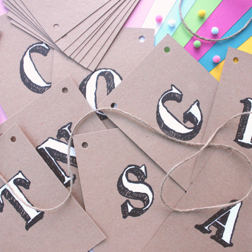 Personalised Kraft Decorative Bunting