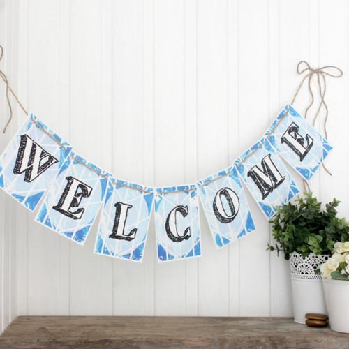 Welcome Bunting. Bunting. Bright Bunting. Welcome Banner. Party Bunting. Welcome. Welcome Home Bunting. Welcome Back. Welcome Home. Garland