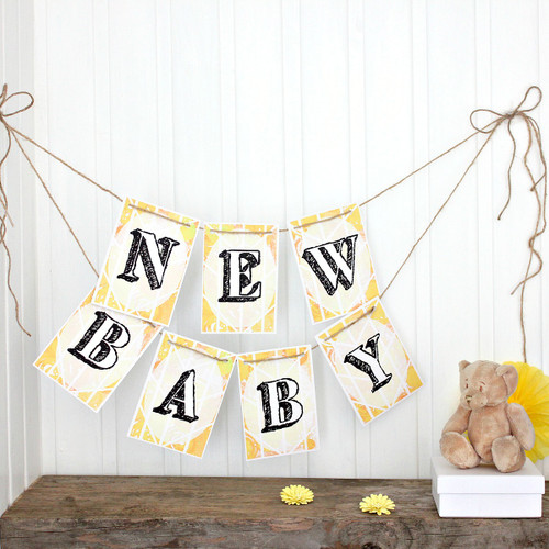 New Baby Bunting. Bunting. Bright Bunting. Party Bunting. Baby Shower Bunting. Baby Shower Decorations. Baby Shower Banner. Baby Shower.