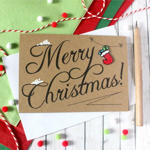 Christmas Card. Handmade Christmas Card. Xmas Card. Holiday Card. Christmas Cards. Christmas Stockings. Traditional Christmas Card. Xmas