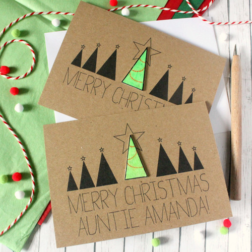 Personalised Christmas Card. Christmas Card. Xmas Card. Holiday Card. Christmas Cards. Christmas Tree. Christmas. Xmas. Christmas Tree Card.