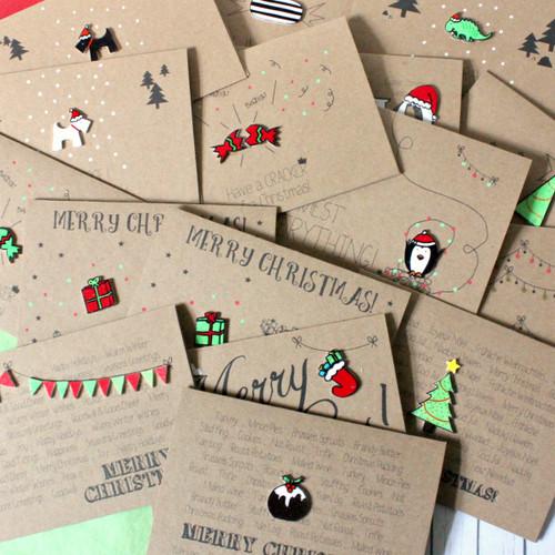 Handmade Christmas Card Pack
