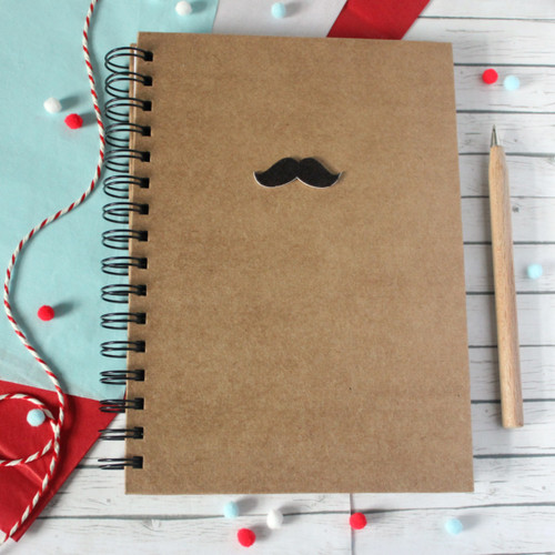 Movember. Mustache A5 Notebook. Moustache A5 Notebook. Lined Notebook. Spiral Notebook. Boyfriend Notebook. Hipster Notebook. Mustache.