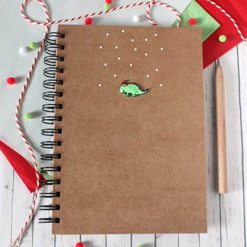 Christmas Planner. Christmas Dinosaur A5 Notebook. A5 Notebook. A5 Christmas Organiser. Christmas Dinosaur. Lined Christmas Notebook. Dino