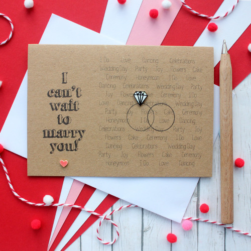 Can't Wait to Marry You Engagement Card