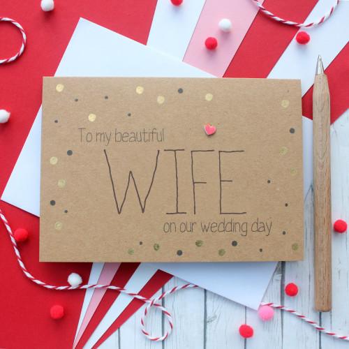 Wife Wedding Card