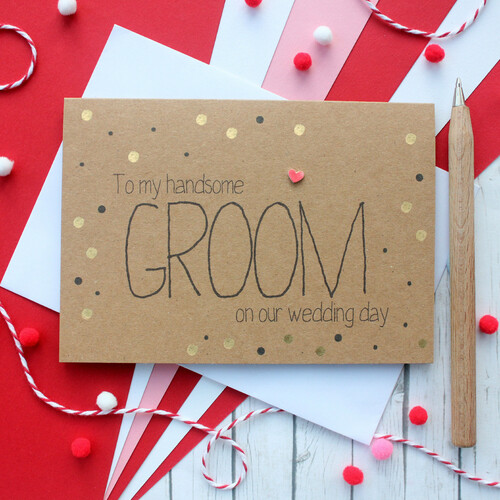 Groom Wedding Day Card