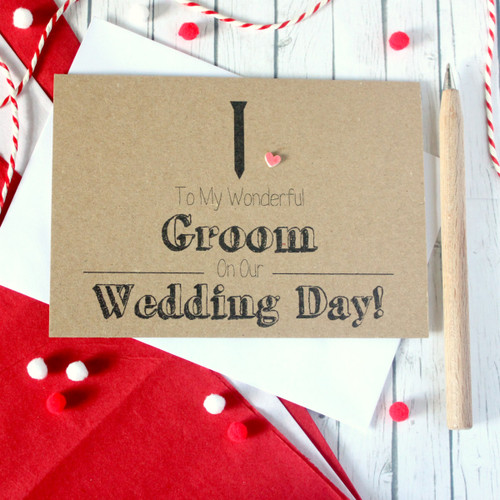Handmade Wedding Card. Groom Card. Groom Wedding Card. Black Tie Card. Wedding Card for Groom. Wedding Day Card for Groom.