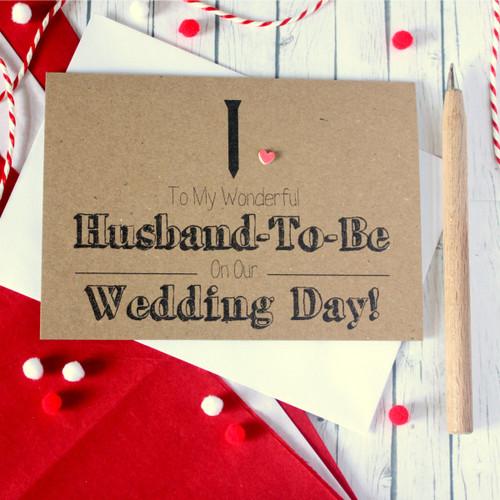 Handmade Wedding Card. Husband-To-Be Card. Husband-To-Be Wedding Card. Black Tie Card. Wedding Card for Husband-To-Be. Wedding Day Card for Husband-To-Be.