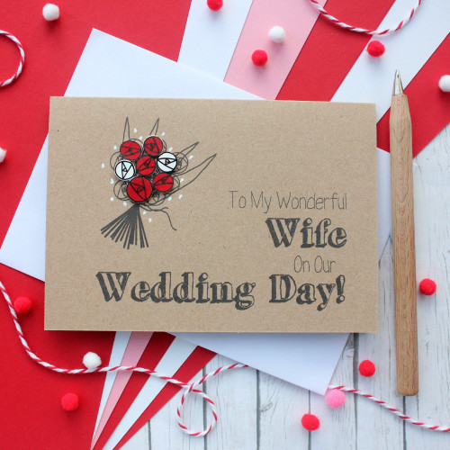 To My Wonderful Wife Wedding Card