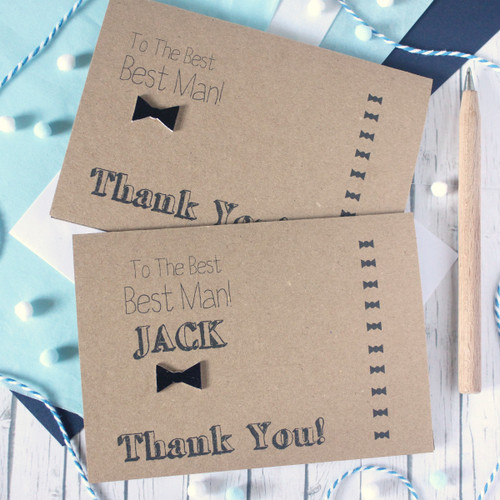 Personalised Best Man Card. Thanks for Being My Best Man. Best Best Man. Best Man Thanks. Best Man Thank You Card. Handmade Wedding Card.