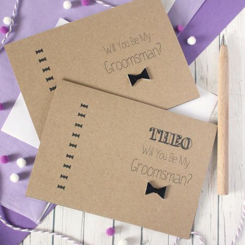 Wedding Groomsman Card. Handmade Wedding Card. Bow Tie Card. Will You Be My Groomsman. Groomsman Card. Bow Tie. Wedding Cards. Groomsmen. Groomsmen Cards. Groomsman.