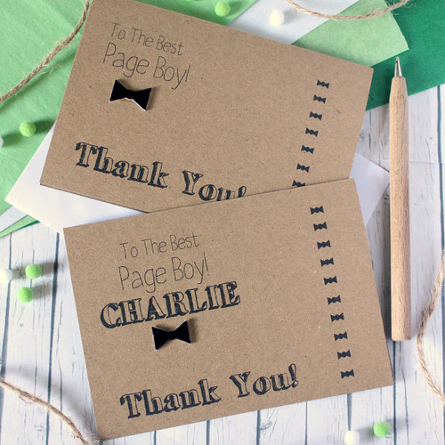 Page Boy Thank You Card. Page Boy Card. Handmade Wedding Card. Bow Tie Card. Thanks for Being My Page Boy. Best Page Boy. Wedding Day card. Bow Tie. Page Boy.
