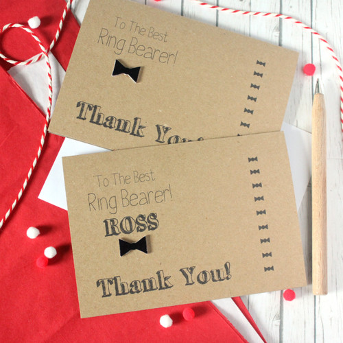 Ring Bearer Thank You Card. Ring Bearer Card. Handmade Wedding Card. Bow Tie Card. Thanks for Being My Ring Bearer. Best Ring Bearer. Wedding Day card. Bow Tie. Ring Bearer.