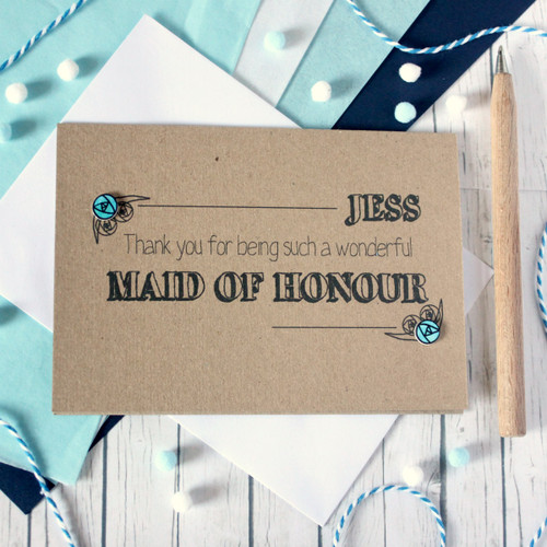 Personalised Maid of Honour Thank You Card. Maid of Honour Card. Personalised Maid of Honour Cards. Maid of Honour Cards. Maid of Honour Thanks. Maid of Honour. Maid of Honour Thank You. Maid of Honor.