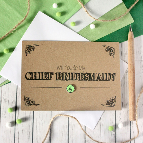 Personalised Chief Bridesmaid Card. Be My Chief Bridesmaid Card. Chief Bridesmaids Card. Will You Be My Chief Bridesmaid. Chief Bridesmaid Ask Card. Wedding Card. Wedding. Chief Bridesmaid.