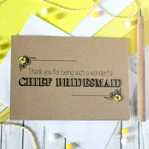 Personalised Chief Bridesmaid Thank You Card. Chief Bridesmaid Card. Personalised Chief Bridesmaids Cards. Chief Bridesmaids Card. Chief Bridesmaid Thanks. Chief Bridesmaid.