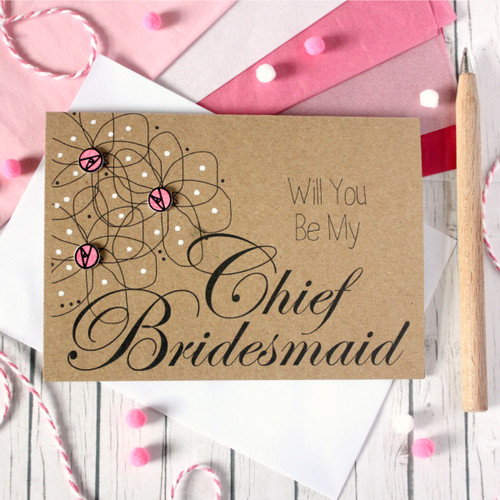 Personalised Chief Bridesmaid Card. Chief Bridesmaid Card. Chief Bridesmaid Cards. Will You Be My Chief Bridesmaid. Flowers. Be My Chief Bridesmaid. Floral Wedding Card. Chief Bridesmaid.