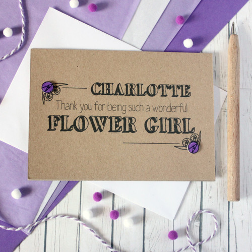 Personalised Flower Girl Thank You Card. Flower Girl Card. Personalised Flower Girl Cards. Flower Girl Cards. Flower Girl Thanks. Flower Girls. Flower Girl Thank You. Flower Girl.