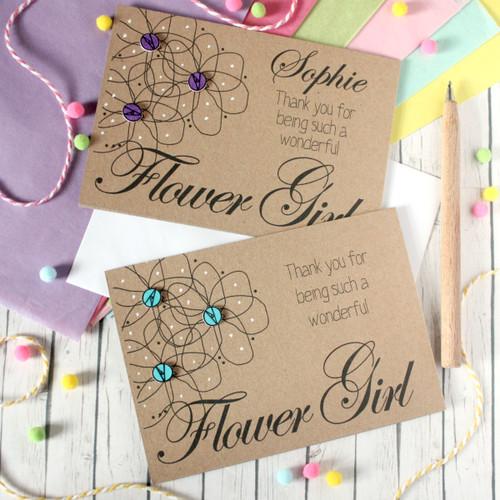 Personalised Flower Girl Card. Personalised Flower Girl Thank You Card. Thank You for being my Flower Girl. Flower Girl Thanks. Flower Girl Card. Flower Girl. Flower Girls.