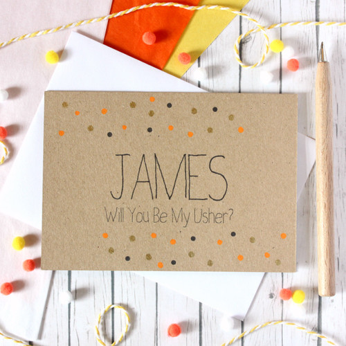 Personalised Usher Card. Usher. Will You Be My Usher. Card to Ask Usher. Be My Usher Card. Usher Wedding Card. Will You Be My Usher. Ushers